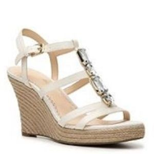 ❗NEW❗️ Jewel Embellished Bling Wedge Sandals, Sz 8
